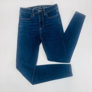 American Eagle Womens Jeans 2 Blue Super Hi-Rise